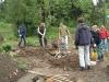 Bau der Kräuterspirale im Bauerngarten 2006