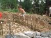 Bau eines steinzeitlichen Lehmofens